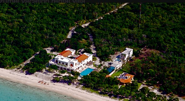 our villa from above